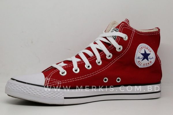 Red all star sneakers for men