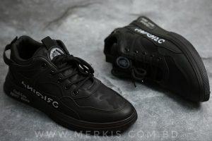 black sneaker