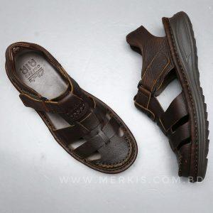 chocolate Clarks sandals